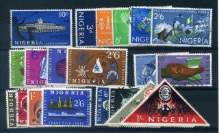 Nigeria 1961 - 63 Range On Stockcard Inc Scouts. photo