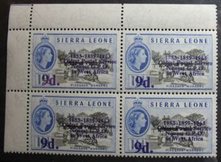 1963 Sierra Leone 9d Scott 253 S.  G.  275 Block Nh Cs08056a photo