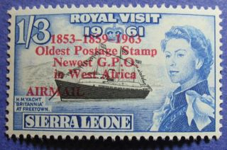 1963 Sierra Leone 1s3d Scott C9 S.  G.  280 Nh Cs08078 photo