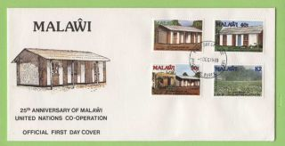 Malawi 1989 25th Anniversary Of United Nations Cooperation First Day Cover photo