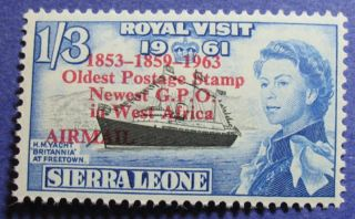 1963 Sierra Leone 1s3d Scott C9 S.  G.  280 Nh Cs08080 photo