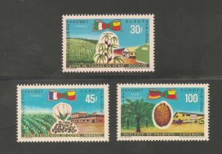 Dahomey 262 - 263 / C105 Vf - 1969 30fr To 100fr Europaafrica Issue photo