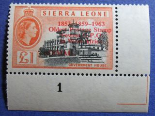 1963 Sierra Leone 1p Scott C13 S.  G.  284 Cs08094 photo