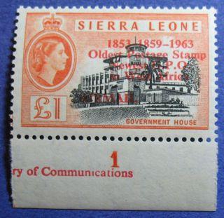 1963 Sierra Leone 1p Scott C13 S.  G.  284 Cs08095 photo
