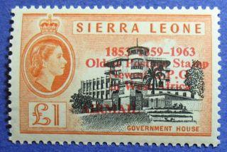 1963 Sierra Leone 1p Scott C13 S.  G.  284 Cs08096 photo