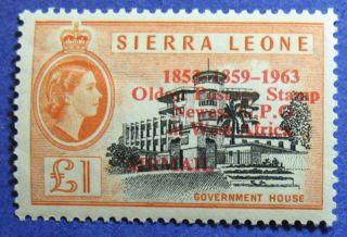 1963 Sierra Leone 1p Scott C13 S.  G.  284 Cs08097 photo