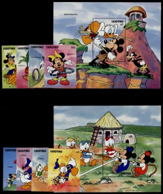 Lesotho 861 - 70 Disney,  Games,  Mickey,  Pluto,  Minnie photo