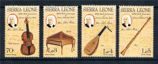 Sierra Leone 1985 300th Birth Anniversary Of Johann Bach Sg 890/3 Mvlh photo