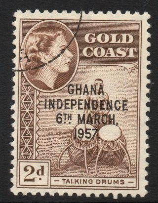 Ghana Sg173 1958 2d Chocolate Fine photo
