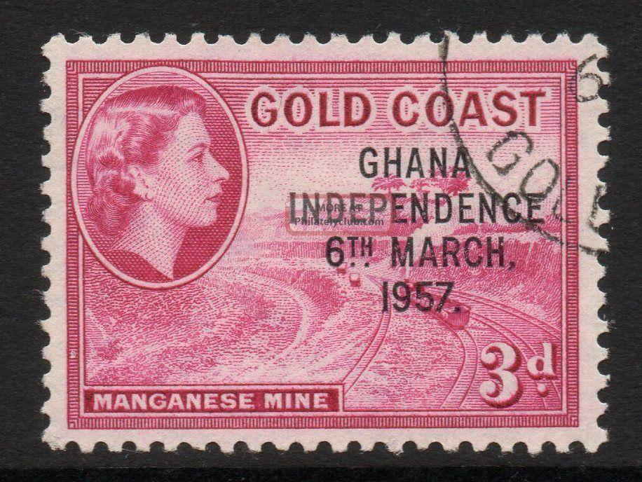Ghana Sg175 1957 3d Magenta Fine Africa photo