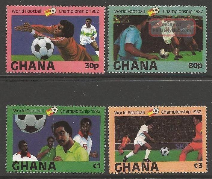 Ghana Sg1005/8 1982 Football World Cup Africa photo