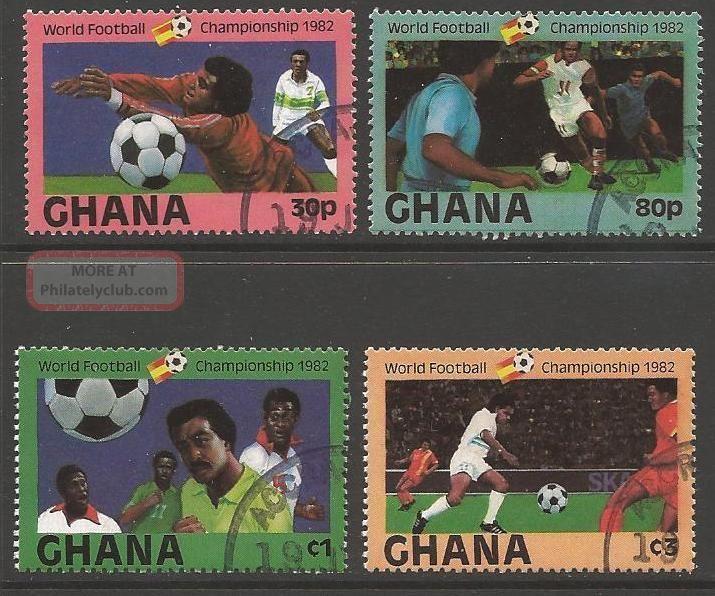 Ghana Sg1005/8 1982 Football World Cup Fine Africa photo