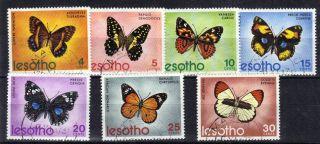 Lesotho 1973 Butterflies 7v Sg239 - 245 Ref:y266 photo