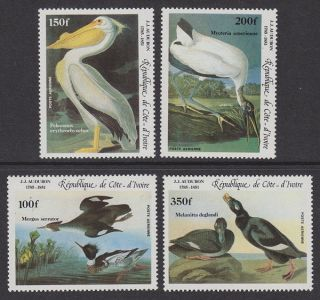 Ivory Coast - 1985 Audubon (4v) Um / photo