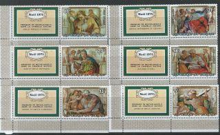 Burundi 1975 Sc 485 - 487,  C228 - C230 Christmas Noel 1975 Tab photo