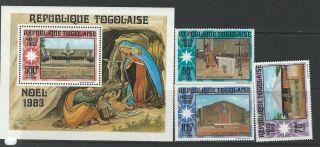 Togo 1983 Sc 1174 - 1177 Christmas photo