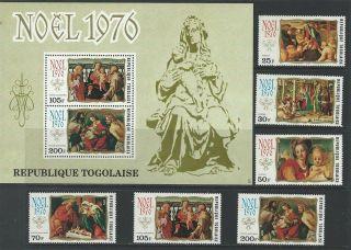 Togo 1976 Sc 943 - 945,  C295 - C297a Christmas photo