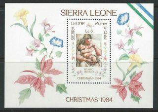 Sierra Leone 1984 Sc 670 Christmas photo