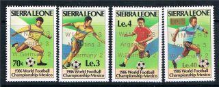 Sierra Leone 1986 World Cup Winners Sg 974/7 Mvlh photo