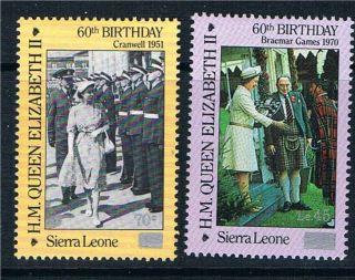 Sierra Leone 1986 Surcharge Issue Sg 968/9 Mvlh photo