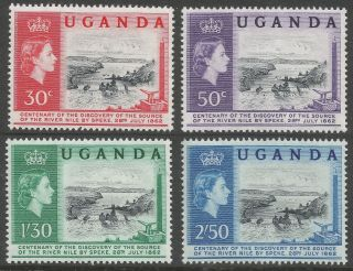 Uganda.  1962 Centenary Of Speke ' S Discovery Of Source Of Nile.  B4a38 photo
