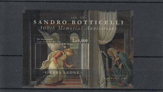 Sierra Leone 2011 Sandro Botticelli 500th Memorial Anniv 1v Sheet Art photo