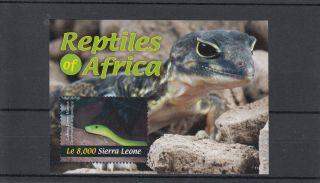 Sierra Leone 2011 Reptiles Of Africa 1v Sheet Snakes Eastern Green Mamba photo