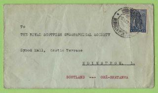 Angola 1947 1.  75e On Cover To Royal Geographical Soc.  Edinburgh photo