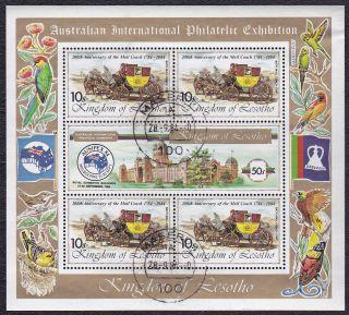 Lesotho - 452 - 200th Anniv Of Mail Coach - 1984 - B3607 photo