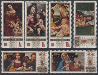 Burundi Sc 303 - 5,  C107 - 9 Chistmas 1969 Painting Rubens Botticelli photo