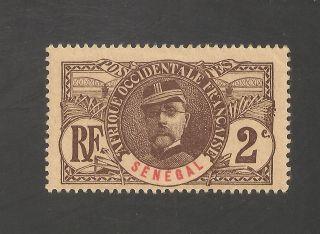 Senegal 58 Vf Lh - 1906 2c General Louis Faidherbe - Scv $2.  00 photo