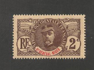 Upper Senegal & Niger 2 Vf Mlh - 1906 2c General Louis Faidherbe - Scv $2.  75 photo