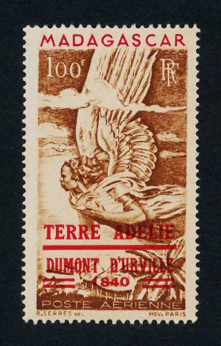 Malagasy C54 Mh - Allegory Of Air Mail,  Terre Adele O/p photo