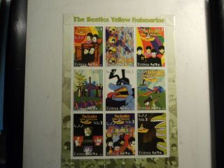 Framed,  The Beatles,  Yellow Submarine,  2003 Stamp Sheetlet photo
