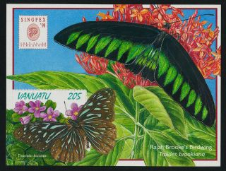 Vanuatu 726a Butterfly,  Flower photo