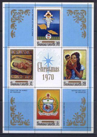 Samoa 336a Mh Christmas,  Art photo