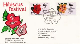 (28148) Fiji Fdc Hibiscus Festival - Suva 27 August 1977 photo
