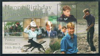 Fiji 2000 18th Birthday Prince William Sg Ms 1101 photo