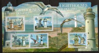 Solomon Islands 2012 Lighthouses/birds Sheetlet photo