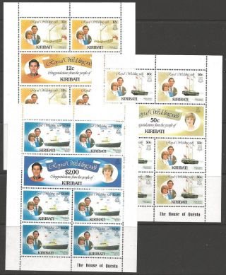 Kiribati Sg149/54 1981 Royal Wedding Sheetlets photo
