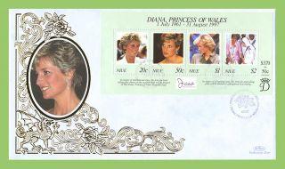 Niue 1998 Princess Diana Memorial Silk First Day Cover photo