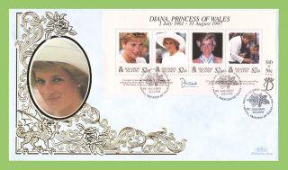 Solomon Islands 1998 Princess Diana Memorial Silk First Day Cover photo