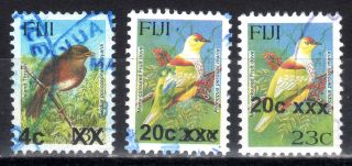 Fiji 1194,  1196 & 1196 Shifted - 2007 - 2009 Provisional Overprint Series - photo