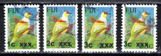 Fiji 1214 - 1223a - 2007 - 2009 Provisional Overprint Series - $43 Scv photo