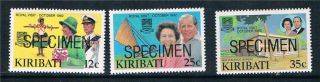 Kiribati 1982 Royal Visit Specimen Sg193/5 photo