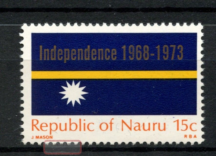Nauru 1969 Sg 96 Flag Of Independence Nauru A68804 Australia & Oceania photo