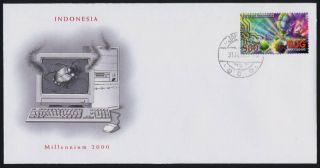 Indonesia 1847b Fdc - Millennium,  Y2k Bug photo