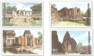 Thailand Stamp,  1995 1660 - 1663 Thai Heritage Conservation,  Places,  Temple photo
