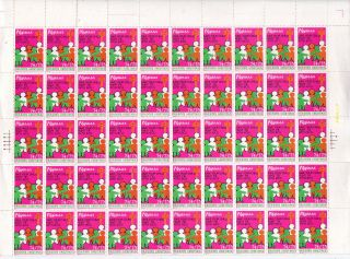 1974/75 Philippines Anti - Tb Seal Bcg Save Your Children Campaign Full Sheet photo