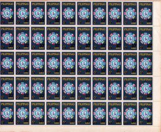 1964philippines 10th Year Anniversary Of Seato Full Sheet photo